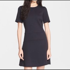 VINCE | pique ponte black fit & flare dress 6